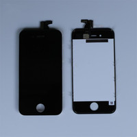 Wholesale Iphone Gsm Lcd Assembly - Wholesale - Freeshipping Front Assembly LCD Display Touch Screen Digitizer Replacement Part for iphone 4s GSM CDMA 4S Black White