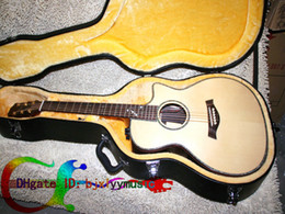 Wholesale Ebony Fingerboard Hollow - New Ebony fingerboard 916CE Acoustic Electric Guitar IN Natural Rosewood High quality Free Shipping