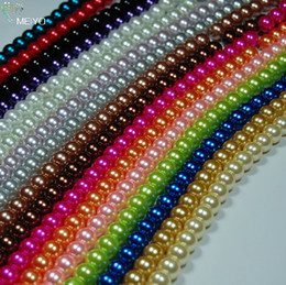 Wholesale Spacer Beads 6mm - 6MM Multicolor Round Pearl Imitation Glass loose spacer Bead .drop shipping .beads sale.725PCS LOT