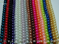 Durchmesser 10mm Multicolor Runde Perle Imitation Glas lose Distanzscheiben-Korn .Drop .beads sale.425PCS / LOT