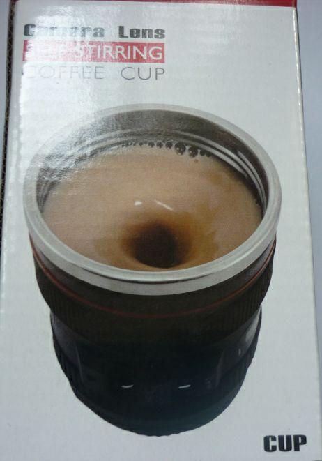Объектив камеры самостоятельно помешивая чашка кофе кофе кружка из нержавеющей стали подкладка чашка кофе 400 мл