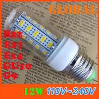 Wholesale Cree Chip Led Bulbs - New Arrival E27 LED Bulbs 12W 1020 Lumen Cree SMD 5730 5630 Chip With Cover 36leds GU10 E14 B22 G9 110V - 240V Led lights Corn lamp