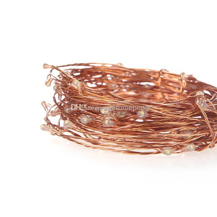 10m 100LEDS koppar tråd varm vit LED-sträng Fairy ljus med 12V 1A 12W nätadapter till jul bröllop parti dekorativa