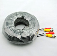 cctv elektrik hatları toptan satış-Ücretsiz Kargo 50 M BNC VIDEO GÜÇ KABLOSU IÇIN CCTV GÜVENLIK KAMERALARı