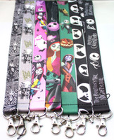 Wholesale Christmas Lanyards Free Shipping - New Free shipping 30 pcs a lot The Nightmare Before Christmas Lanyard  MP3 4 cell phone  key chains  Neck Strap Lanyard