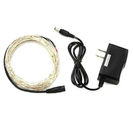 Wholesale Wire For 12v Dc Power - Copper Wire 5M 16.4Ft 50LEDs Starry Decorative String Light 12V DC for Christmas With Power Adapter