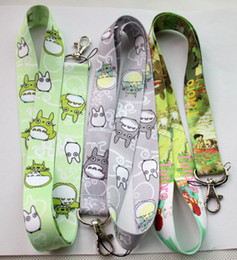 Wholesale Totoro Cell Phone Wholesale - New! Free shipping new 30 pcs My Neighbor Totoro Neck Lanyard for MP3 4 cell phone lanyard lite Key chains
