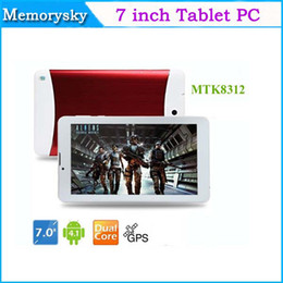 Wholesale androids tablet pc resale online - 2015 inch Phone Call Tablet PC Dual Core HD Screen MTK8312 GHz G WCDMA G GSM android GPS bluetooth Wifi OTG Dual Camera