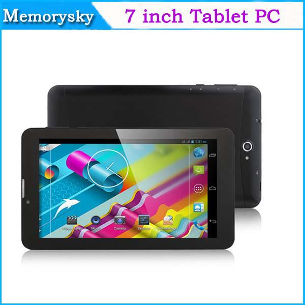 top popular 7 inch Phone Call Tablet PC Dual Core MTK8312 1.2GHz 3G WCDMA 2G GSM Android 4.4 GPS bluetooth Wifi OTG Dual Camera Hot Sale Xmas 002292 2019