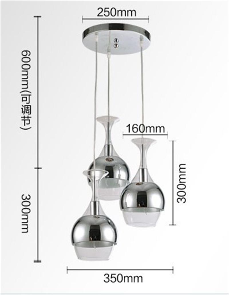 Chandeliers Wine Glass Pendant Light Hanging Lighting