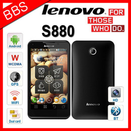 Wholesale Dual Core Mtk6575 - Original Lenovo S880 Android 4.0 OS 5.0MP Camera 5.0 Inch Screen 3G GPS Dual Camera MTK6575 RUSSIAN HEBREW