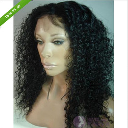 Wholesale Jerry Curl Lace Wig Human - Black woman jerry curl front lace wigs natural color indian remy virgin human hair natural hair line
