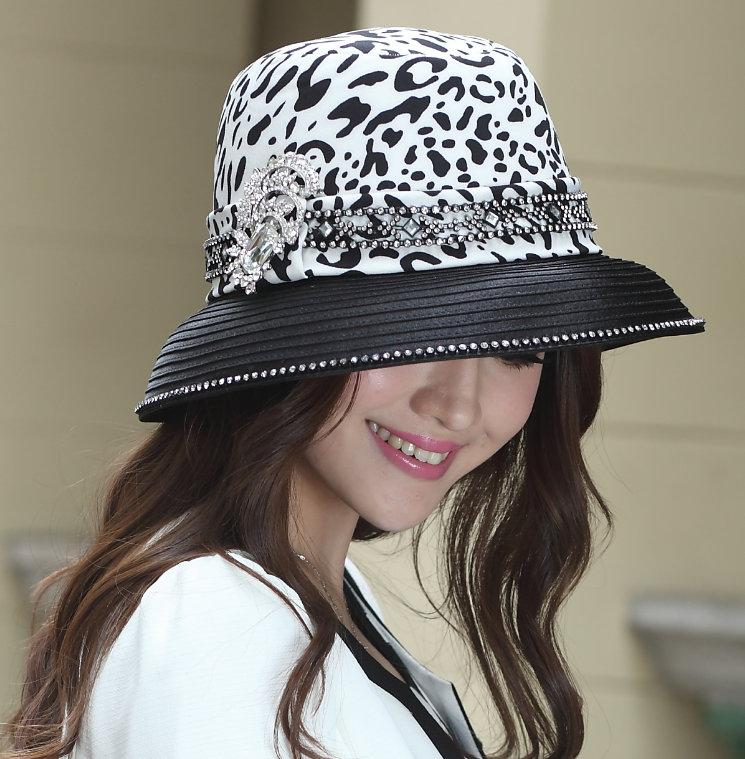 Church Hat Women Dress Hat Dress Kentucky Derby Hat Formal Hat Ladies  100%  Polyester Hats Black Color Wide Brim New Arrival Beach Hat Church Hats From  ... 1db9c0c801d
