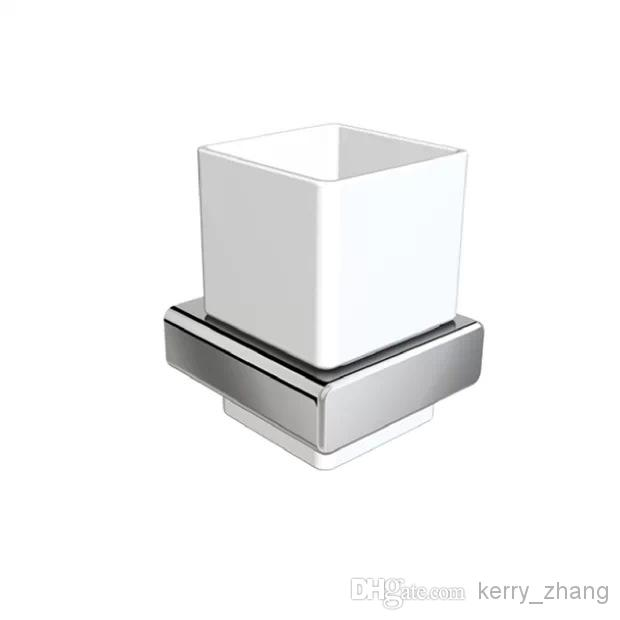 bathroom accessories tumbler holder toothbrush holder ceramic - Square Bathroom Accessories Chrome