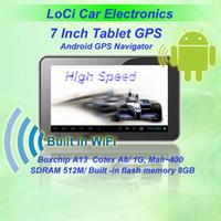 gps igo espanha venda por atacado-Frete grátis! 7 polegada do carro Android GPS navegador Tablet + A13 1GHZ + DDR512M + tela Capacitiva + Android4.0 + 8 GB IGONaivtel mapa