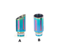 2014 Rainbow Drip Tip Stainless Steel Mouthches 510 Wide Bore Metal Mouthpiece para EGO 510 CE4 UDCT Omega cera de vidro Atomizer E cigarro