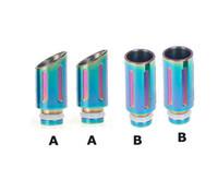 ce4 воск оптовых-Радуга мундштуки 510 Радуга SS широкий диаметр капельного советы для RDA EGO 510 CE4 UDCT Омега воск стекло GAX Kayfun атомайзер электронная сигарета