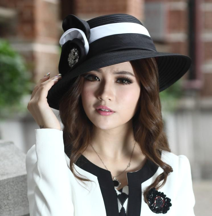 8293ea37b60 Fashion New Ladies  Church Hats Satin Fabric Satin Flower 100% Polyester  Newly Designed Satin Ribbon Flower Brooch Derby Hat UK 2019 From  Junesyounghats