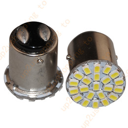 Wholesale Led Stop Tail - 2X 1157 BAY15D 22 SMD LED White Car Stop Tail Brake Turn Signal Light Lamp Bulb for good price free shipping