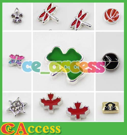 top popular DHL Freeshipping 1000pcs floating locket charms mixed floating charms for glass memory living floating locket pendant Xmas gift no locket 2019