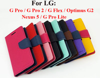 Wholesale Optimus G Cover - Mercury Wallet Flip Leather Case Cover With TPU inner Stand Card Slot For LG G PRO 2 PRO2 FLEX Optimus G2 Nexus 5 Pro Lite Dual D686