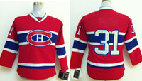 Escompte Enfants Sport Maillots Pas Cher-Youth Montreal Canadien # 31 Carey Price Red Hockey Jerseys 2014 Nouvelle Arrivée Kids Hockey Wears Playoffs Équipes Maillots Discount Sports Wear