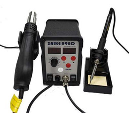 Wholesale Reballing Solder - 220V Saike 898D Hot Air Rework Station Hot Air Gun BGA De-Soldering Reballing