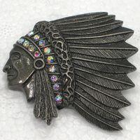 cabeça pino moda venda por atacado-Atacado Broche de Strass Índios Chefe de Moda Pin Broches de presente Da Jóia Da Forma C101703