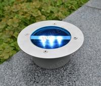 Wholesale Under Ground Garden Lights - Outdoor Solar Power 3 LED Bulbs Light Buried Lamp Path Way Garden Under Ground Decking Yard