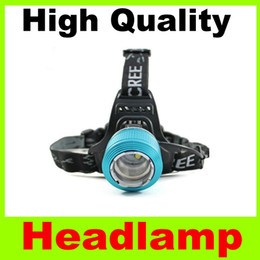 Wholesale Headlamp Focus Zoom T6 - Newest Blu-ray double headlight multifunction Dual light 3 Modes Adjustable double bubble Focus Zoom headlamp fishing lamp free shipping H