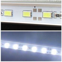 Wholesale Wholesale Aluminium Wire - 2015 new Non-waterproof 5630 72led m LED Bar Light Strip Cool White Warm White Hard Strip DC 12V Aluminium Profile Shell LOT 200M