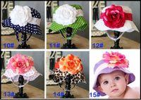 Wholesale Summer Baby Girl Sunhat - NEW styles!Baby caps kids' sun helmet baby hats toddle sunbonnet girls' sunhat girls' headgear