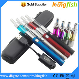 Wholesale Dual Cigarette Starter Kit Ego - Kingfish Evod battery Mini Protank 3 Pyrex Glass Dual Double coil vaporizer Electronic Cigarette E Cigarette starter kit ego cigarette e cig