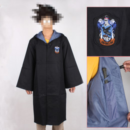 Wholesale harry potter robes resale online - Newest Harry Potter Uniform Ravenclaw s School Robe Cloak Cosplay Costume size for children style and adult style