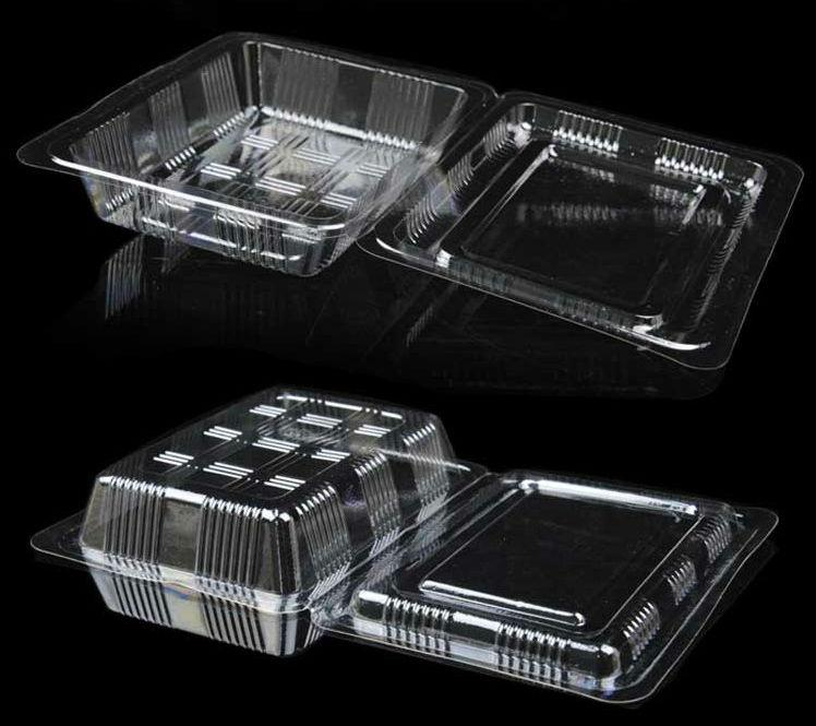 100X Inidual With Hat Clear Plastic Disposable Food Cake Container Cupcakes Packaging Box & 100X Inidual With Hat Clear Plastic Disposable Food Cake Container Cupcakes Packaging Box