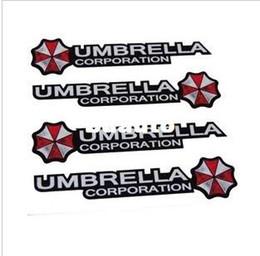Wholesale Decorative Umbrellas Wholesale - Free shipping Car decorative reflective UMBRELLA Ann brera resident evil zombie UMBRELLA shape control door stickers