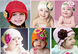 Wholesale Crochet Designs For Kids - Many designs option! NEW popular-HANDMADE crochet beanies caps hats, knitting cap hat for kids baby infants toddlers girl