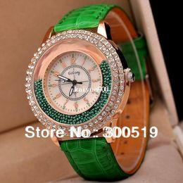 Wholesale Wrist Watch Beads - JW298 Women 2013 Fashion New Moveable Beads Watch Full Diamond Big Dial Plate Ladies Wrist Quartz Watch Dress Watch