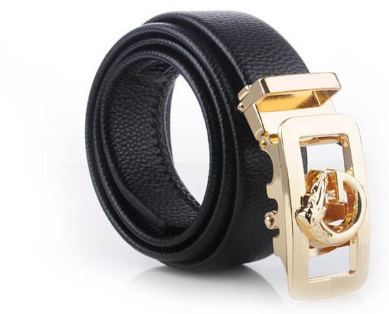 Amazing Cheap Men Leather Belts Horse Head Alloy Belt Fastener A precious Gift