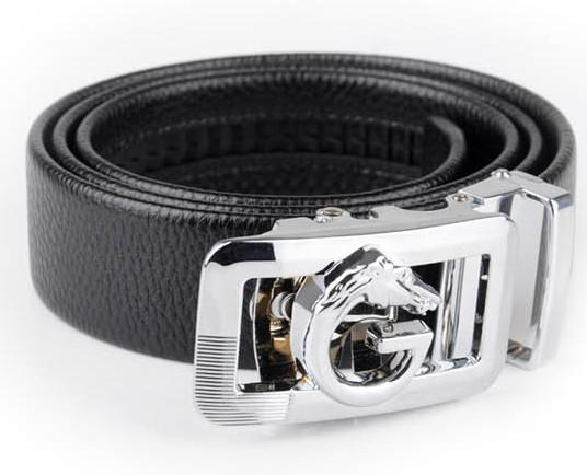 Amazing Cheap Men Leather Belts Horse Head Alloy Belt Fastener A precious Gift free shipping