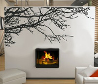 Wholesale Tree Branch Wall Decals Removable - Stunning Tree Branch Removable Wall ART Sticker Vinyl Decal Mural Home Decor free shipping