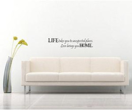 "Wholesale Unexpected Quotes - New Wall Decal Art Sticker Quote Vinyl Life Take You to Unexpected Places 6""X24"""
