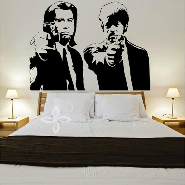 Banksy Jules And Vincent Pulp Fiction -LARGE -Vinyl Wall Decal, Wall ...