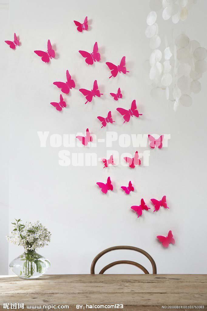 Marvelous 3d Wall Sticker Butterfly Home Room Decor Decorations Pop Up Stickers S 5cm  For Door Closet Fridge Car Acrylic Home Decor Wall Sticker Home Decor Wall  ...