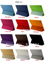 Canada Fullbody Smart Cover Slim magnétique en cuir PU Stand Cover Cover pour New iPad 4 iPad 3 iPad 2 Livraison gratuite cheap ipad cover free shipping Offre