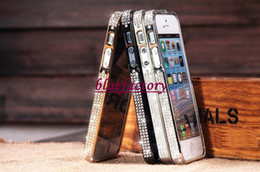Wholesale Bumper Case For 4s - For iPhone 5 5G 5s Diamond Bumper Frame Cases Fashion Crystal Cover Luxury Rhinestone Bling case Cover For iPhone5 iPhone5s for Iphone 4 4s