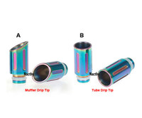 Wholesale Ego Ce4 Steel - Latest Rainbow Drip Tips Muffler and Tube Drip Tips Stainless Steel Wide Bore Drip Tip for CE4 DCT Vivi Nova 510 EGO Atomizer
