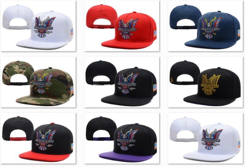Dipset U.S.A Diplomats Eagle Logo Snapback Hats White Red Navy Camo Black  Purple Snapback Online with  8.05 Piece on Chencqj s Store  1c4cd34bd60