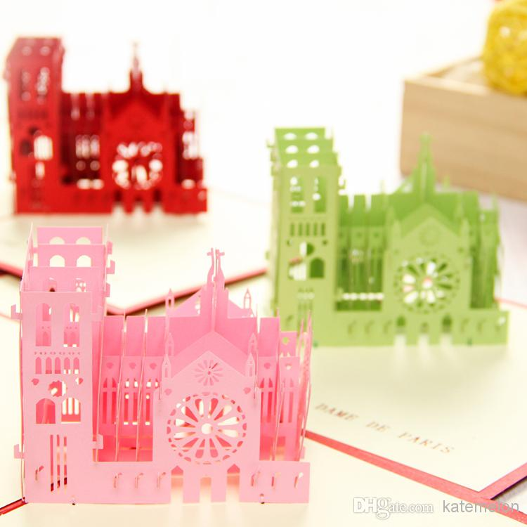 Luxury Notre Dame De Paris Handmade Creative Kirigami & Origami 3d ...