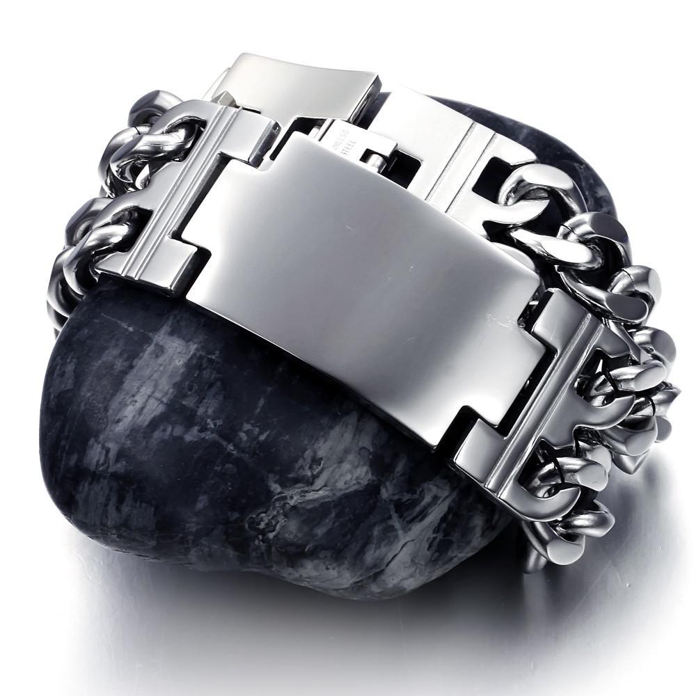 Wholesale 2014 الأزياء والمجوهرات الفولاذ المقاوم للصدأ لامعة تيتانيوم سوار سوار هدية شحن مجاني